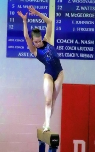 Chamblee freshman Sarah Wolf came up just short of qualifying for the state finals. (Photo by Mark Brock)