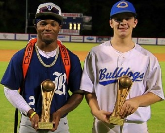 Redan's Narvin Booker (left) and Chamblee's Patrick Scott (right) were named the East and West Seniors' MVP. (Photo by Mark Brock)