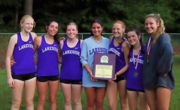 2021 DCSD Country Cross Country Girls Champions -- Lakeside Lady Vikings