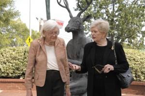 Beverly Bremer, left, and Helen Frushtick talk shop.
