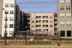 The Axis Apartments stand among luxury complexes in Dunwoody.
