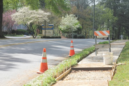 The city of Brookhaven repaired sidewalks near Montgomery Elementary School during spring break April 8-12.