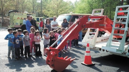 Looking touch a truck