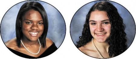 Ferra Pinnock, left, Valedictorian, Yale University Sarah Diamond, Salutatorian, Florida State University