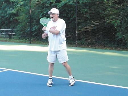 Charlie Dixon, 78, retired from Western Electric, is an original member and still an active player.