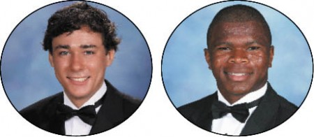 Jack Leahey, left, Valedictorian, Princeton University Jason Morris, Salutatorian, Yale University