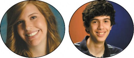 Emily Grace Kelly, left,  Valedictorian, U of North Carolina Aaron Hochman, Salutatorian, University of Chicago