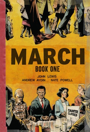 """Cover of book one of """"March,"""" a three-part graphic novel co-authored by Rep. John Lewis, D-Atlanta. Source: Top Shelf Productions."""