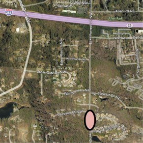 Lake Forrest Drive is closed between Chevaux Court and Lake Summit Drive.
