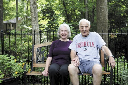 Lucy Stewart, left, and her husband Carl, moved to the subdivision in 1971 from Avondale Estates.