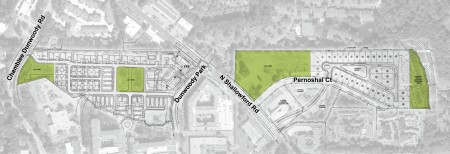 The city's planned Project Renaissance redevelopment features new housing and four new parks.