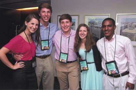 From left, Jenna Kahn, Jan Berland, Matthew Kurzweil, Alison Shutzberg and Bilal Gutu at the National Competition.