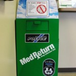 The Med Return box placed inside the lobby of the Sandy Springs Police Department.