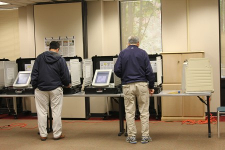 Voters cast their ballots at Dunwoody Library Nov. 5.