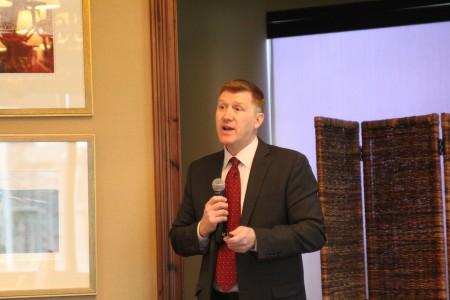 North Atlanta Principal Howard Taylor speaks to the Buckhead Business Association on Nov. 7, 2013