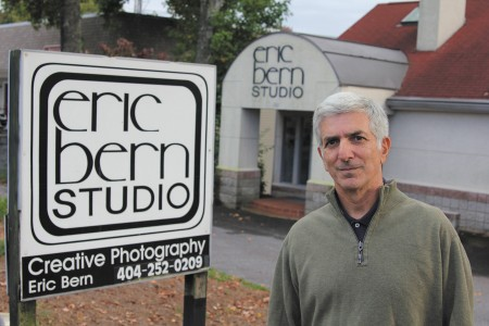 Eric Bern at his studio at 161 Mount Vernon Highway