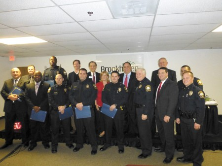 Brookhaven City Council honored police officers who went above and beyond the call of duty with letters of commendation on Dec. 10.