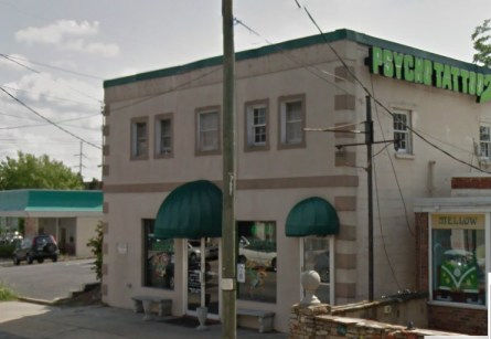 Street view of the Psycho Tattoo property. Source: Google.com.