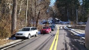 Abandoned cars in North Fulton County. (Courtesy CBS Atlanta)