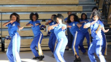 Chamblee Charter High School dancers perform at a ceremony celebrating the opening of the new school building Jan. 22.