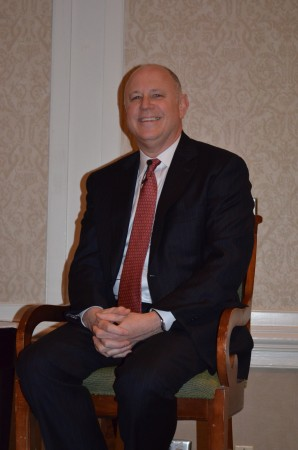 Jeff Sprecher, founder and CEO of Sandy Springs- based IntercontinentalExchange, talks to members of the Sandy Springs/Perimeter Chamber of Commerce on Jan. 16, 2014.