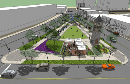 A rendering of the new Charlie Loudermilk Park in Buckhead (Courtesy Buckhead CID).