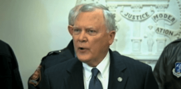 Gov. Deal at this afternoon's press conference (Courtesy WSB-TV)