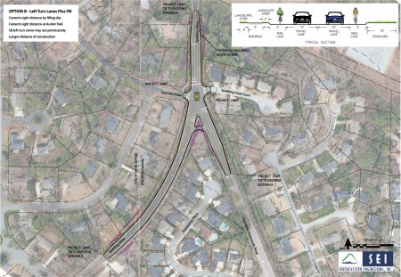 City officials have proposed three options to improve the intersection of Spalding Drive and Chamblee-Dunwoody Road. Residents say accidents are numerous, and something must be done.