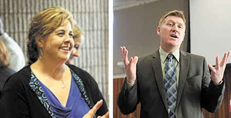 """On April 17 the public first heard that Sutton Middle School Principal Audrey Sofianos, left, and North Atlanta High Principal Howard """"Gene"""" Taylor would not return for the next school year."""