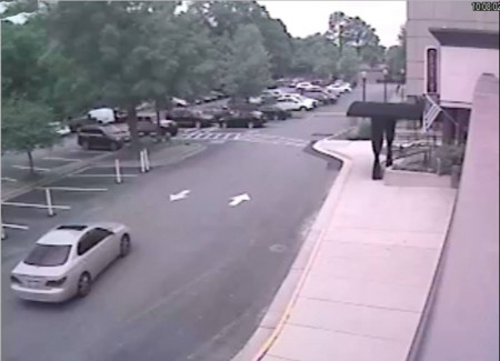 The silver car used in the getaway. (Courtesy Dunwoody Police Department)