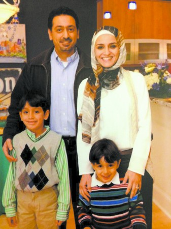 Ashraf Awad and his wife Noor, with sons Omar, 8, and Ahmed, 4, celebrate Ramadan starting this month.