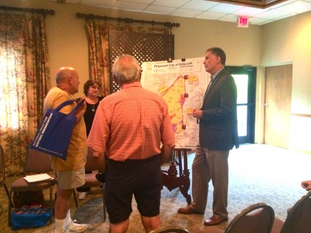 Resident members of the Lindbergh-LaVista Corridor Coalition met at Westminster Presbyeterian Church on July 9 to discuss the merger of the Lakeside and Briarcliff cityhood initiatives.