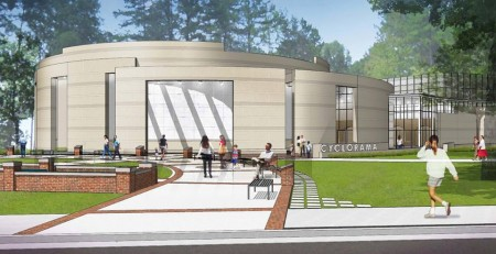 "The Atlanta History Center has raised over $32 million to restore and build a new home for ""The Battle of Atlanta"" painting."
