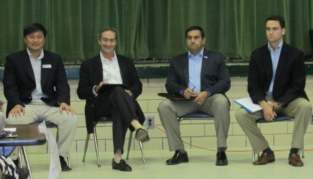 District 2 candidates John Park, Bill Brown, Tim Nama and Charlie Barry faced off at a Sept. 18 forum.