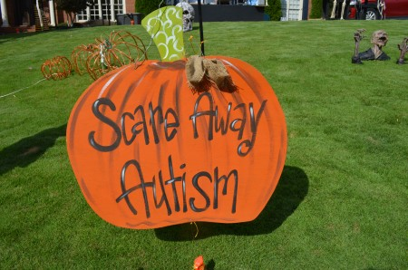 Melissa, who is autistic, likes the fancy pumpkins the best.