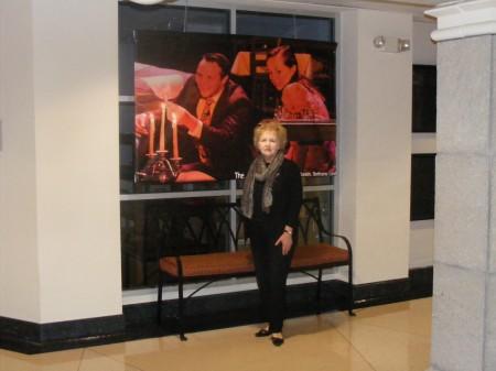 Martha Nodar in the lobby of the Conant Performing Arts Center.