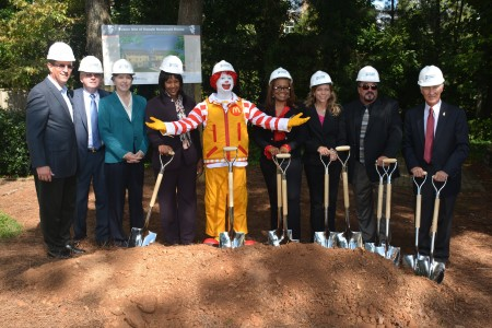 Pictured from left: Orestes Rodridguez, J.M. Owens, Jan Owens, Shiroleen Hurt, Ronald McDonald, Carrie Salone, Lynn Hawkins, John Tamasi, Tony Raffa