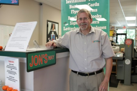 Jon Wittenberg bought a Minuteman Press store instead of relocating to Kansas.