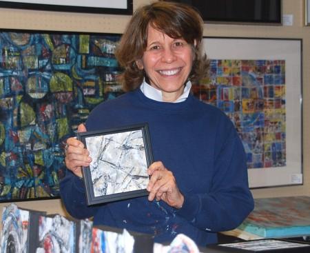 Ellen Stein, member of the Atlanta Collage Society