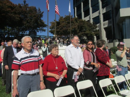 A large crowd was in attendance at the Sandy Springs Veterans Day ceremony.