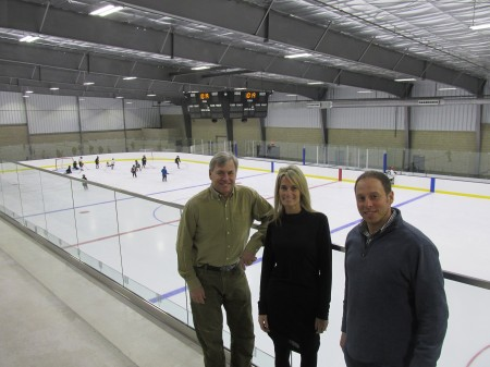 Business partners Mike Aldredge, Michelle McIntosh and Stephane Normandeau have opened Center Ice Arena in Sandy Springs.