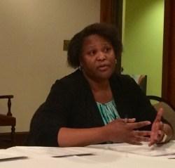 Councilmember Felicia Moore speaks to the Buckhead Council of Neighborhoods on Jan. 8.