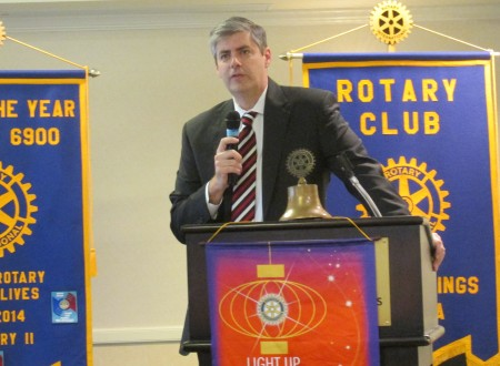 Bob Ellis, Fulton County District 2 Commissioner, spoke at the Rotary Club of Sandy Springs' Jan. 12 luncheon.