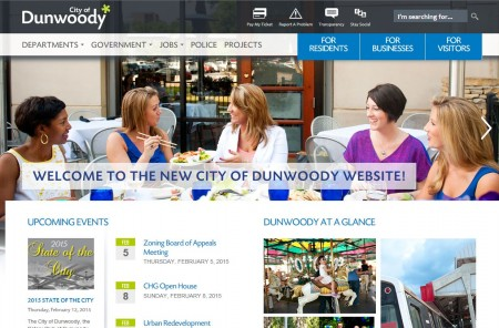 """The city of Dunwoody is still working out some """"kinks"""" on its new website, launched a month ago."""