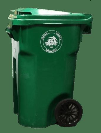 Green Garbage Cart