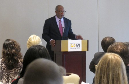 Doug Hooker, Atlanta Regional Commission's executive director, was the keynote speaker at the March 20 Perimeter Business Alliance luncheon.