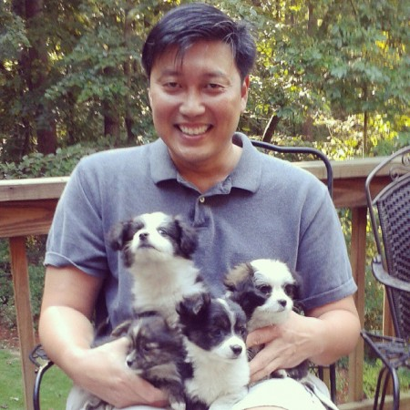 Brookhaven City Councilman John Park fosters pets for the Friends of DeKalb Animals organization. The nonprofit group transports shelter animals to states where there is a shortage of adoptable pets.