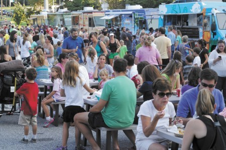 Throngs of people have turned out for Brookhaven's Food Truck Round-ups, including this one in 2013.