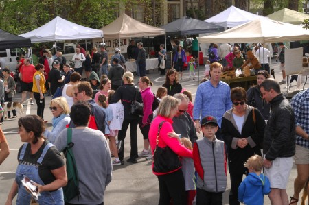 The Peachtree Road Farmers Market in Buckhead drew a crowd last year for its opening day.