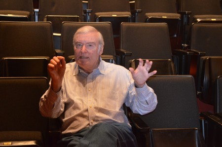 George Mengert, Pace's theater director, has put on more than 128 shows over the years. Photo by Joe Earle.